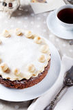 Traditional English Easter cake with marzipan Royalty Free Stock Photos
