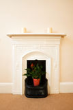 Traditional English Fireplace Royalty Free Stock Photo