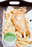 Traditional english fish and chips Royalty Free Stock Photography