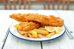 Traditional english fish and chips Royalty Free Stock Image