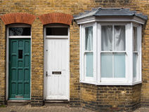 Traditional English house front entrance Royalty Free Stock Photos