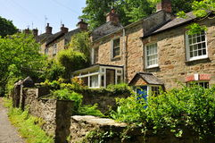 Traditional English houses. Cornwall, England, UK Royalty Free Stock Photography