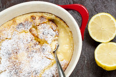 Traditional English Lemon Pudding Royalty Free Stock Image