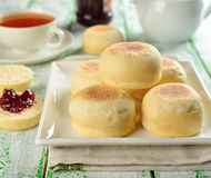 Traditional English muffins Royalty Free Stock Image