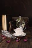 Traditional English 5 o& x27;clock tea. Royalty Free Stock Photo