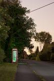 Traditional english phonebox at night Royalty Free Stock Photo