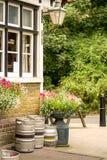 Traditional English pub. Corner of a traditional English village pub Royalty Free Stock Photo