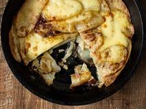 Traditional english pub grub comfort food pan haggerty Royalty Free Stock Images