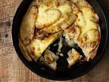 Traditional english pub grub comfort food pan haggerty Stock Photo