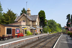 Traditional English railway station Stock Photography