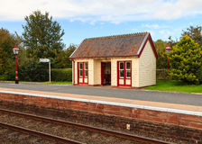 Traditional English Railway Station Stock Image