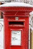 Traditional English Red Post Box Stock Image