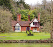 Traditional English Riverside House Royalty Free Stock Photography