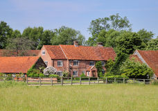 Traditional English Rural Farmhouse Stock Photos