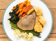 Traditional english sunday lunch Royalty Free Stock Photo