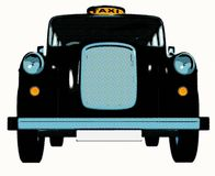 Traditional english taxi / cab Royalty Free Stock Photography
