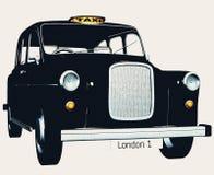Traditional english taxi / cab. A retro style english taxi cab Royalty Free Stock Photos