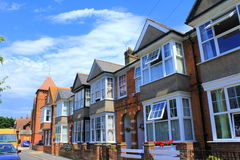 Traditional English terraced houses royalty free stock photo
