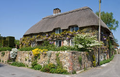 Traditional English thatched cottage. A thatched cottage in the beautiful Sussex village of Angmering Royalty Free Stock Photography