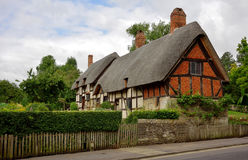 Traditional English Thatched Cottage. Stock Photo