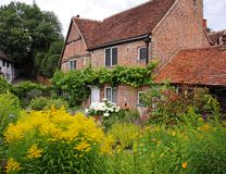 Traditional English Village Cottage and garden Royalty Free Stock Photo