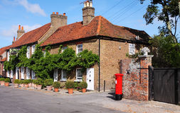 Traditional English Village Cottages Royalty Free Stock Photography