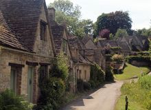 Traditional English Village, Gloucestershire Royalty Free Stock Photos