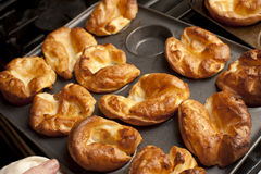 Traditional English Yorkshire puddings Stock Photography