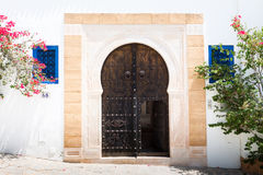 Traditional entrance door Stock Photography