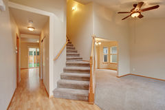Traditional entry way with stairs. Royalty Free Stock Photo