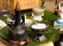 Traditional ethiopian coffee pot Royalty Free Stock Image