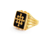 Traditional Ethiopian mens ring Royalty Free Stock Photo