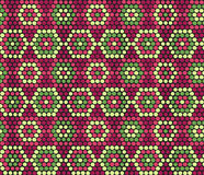 Traditional Ethnic African Ornament. Seamless vector pattern. Be. Hand drawn Ethnic background based on African ornaments. Stylized texture with hexagons Stock Images