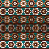 Traditional Ethnic African Ornament. Seamless vector pattern. Be. Hand drawn Ethnic background based on African ornaments. Stylized texture with hexagons Stock Photo