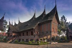 Minangkabau Ethnic House Royalty Free Stock Photography