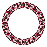 Traditional ethnic round geometric embroidered pattern. Traditional round embroidery. Vector illustration of ethnic round geometric embroidered pattern for your vector illustration