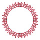 Traditional ethnic round geometric embroidered pattern. Traditional round embroidery. Vector illustration of ethnic round geometric embroidered pattern for your royalty free illustration