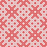 Seamless Traditional Russian ornament made by circles in red. Traditional ethnic Russian and slavic ornament.DISABLING LAYER, you can obtain seamless pattern.The stock illustration