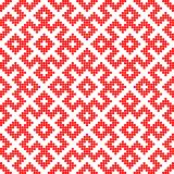 Seamless Traditional Russian ornament made by circles in red. Traditional ethnic Russian and slavic ornament.The pattern is filled with red circles.DISABLING stock illustration