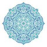 Blue and green ornamental mandala. Vintage, paisley elements. Ornament vector illustration