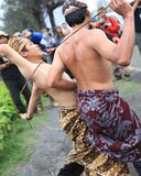 Traditional etnic. Mount Bromo...Traditional Dance Tenger Etnic Stock Photo