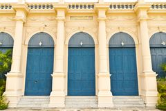 Traditional euro style building doors Stock Photos