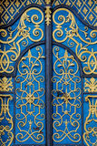 Traditional european facade with entance door Royalty Free Stock Images