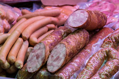 Traditional european sausages and frankfurters Stock Photo