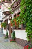 Traditional european street architecture Stock Photo
