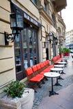 Traditional european street architecture Royalty Free Stock Photo