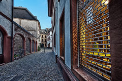 Traditional european street architecture Stock Images