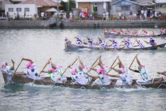 Traditional event in Okinawa Itoman Harley Royalty Free Stock Photos