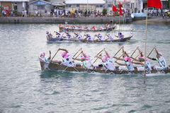 Traditional event in Okinawa Itoman Harley. Traditional Okinawan events praying for big catch and safety at sea Stock Photography