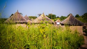 Traditional Ewe people village , Tatale region , Togo. Traditional Ewe people village near Tatale, Togo royalty free stock photo